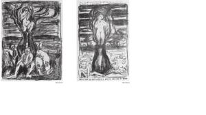 Europas forente stater. Litografiar av Edvard Munch
